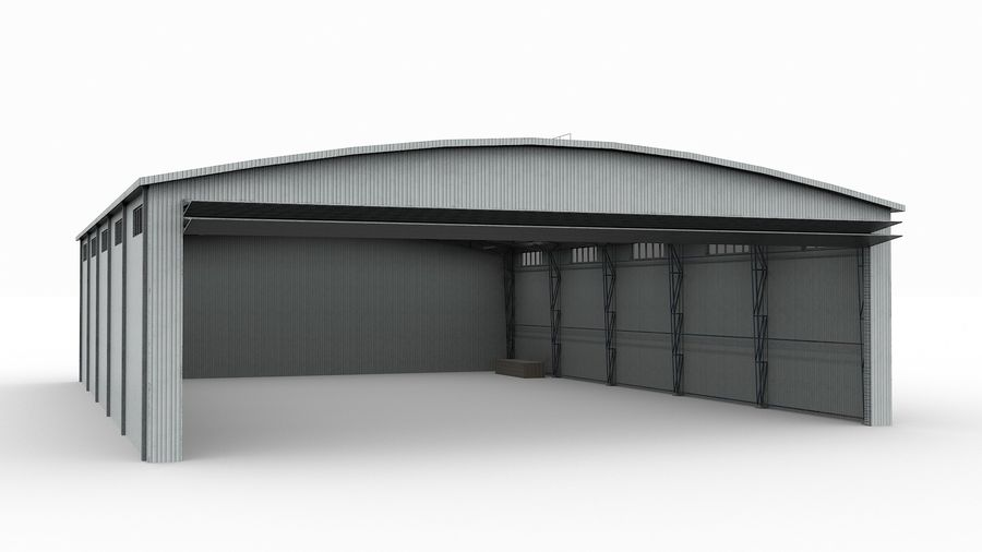 Hangar pour avions royalty-free 3d model - Preview no. 4