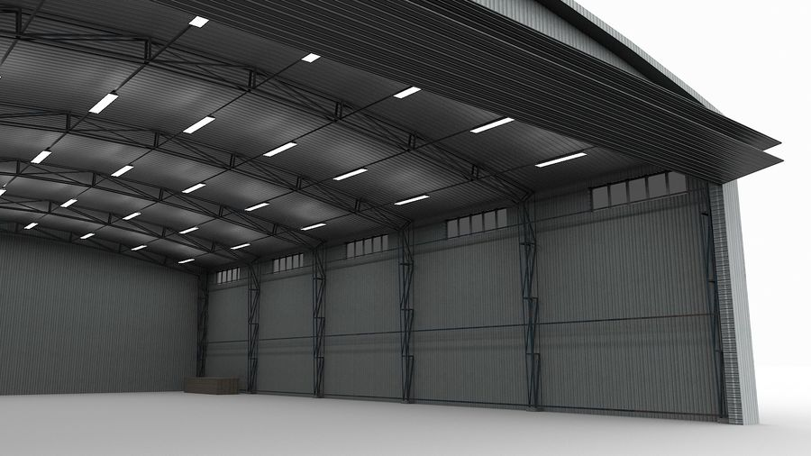 Hangar pour avions royalty-free 3d model - Preview no. 5