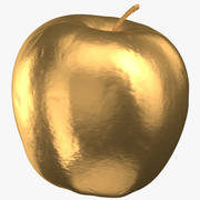 Golden Delicious Apple 04 Gold 3d model