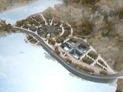 Amphitheater und andere Architektur im Park 3d model