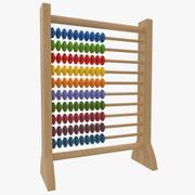 そろばん木製教育玩具 3d model