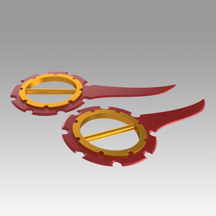 ファイナルファンタジーXリックダガーコスプレ武器プロップ royalty-free 3d model - Preview no. 9