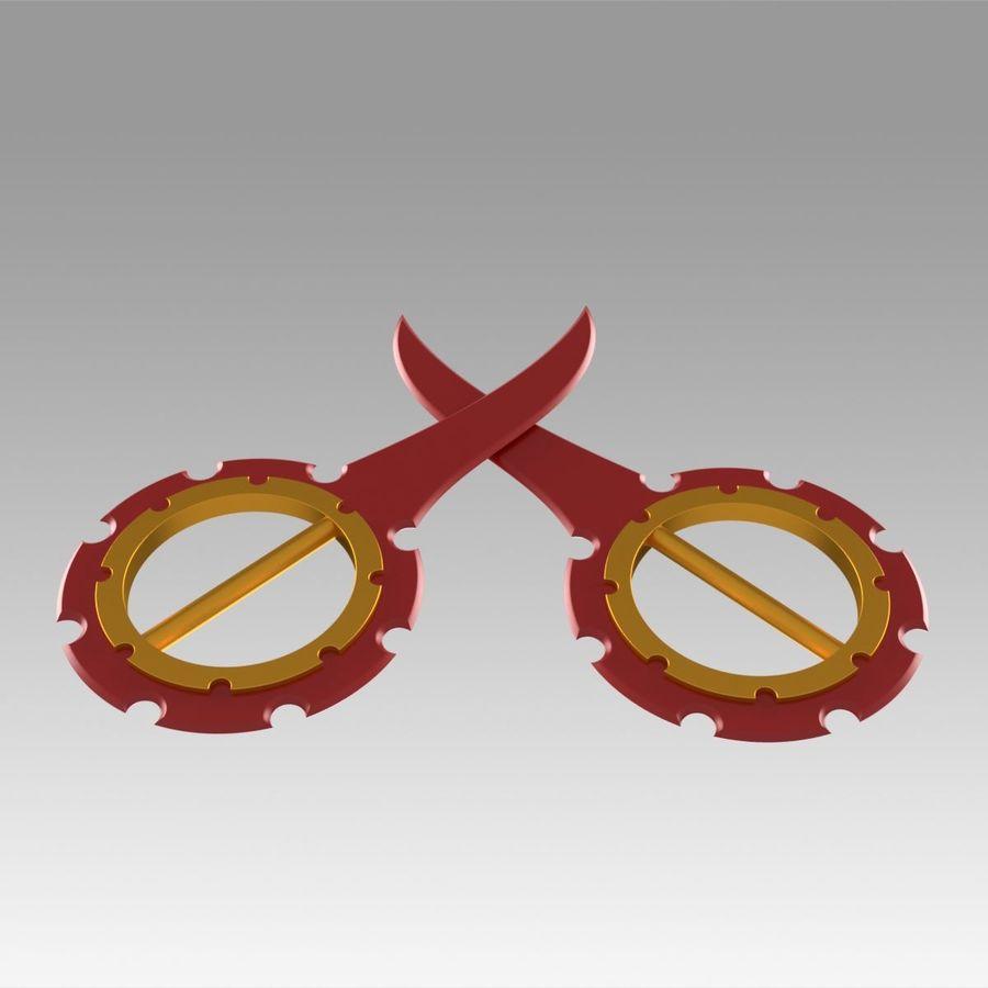 ファイナルファンタジーXリックダガーコスプレ武器プロップ royalty-free 3d model - Preview no. 2