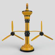 generatore di energia idroelettrica 3d model