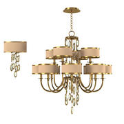 John Richard Counterpoint art deci twelwe Chandelier Ajc 8816 and wall lamp 8818 3d model