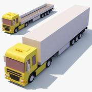 Camión de dibujos animados modelo 3d