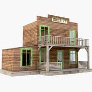 Escritório do xerife do oeste 3d model