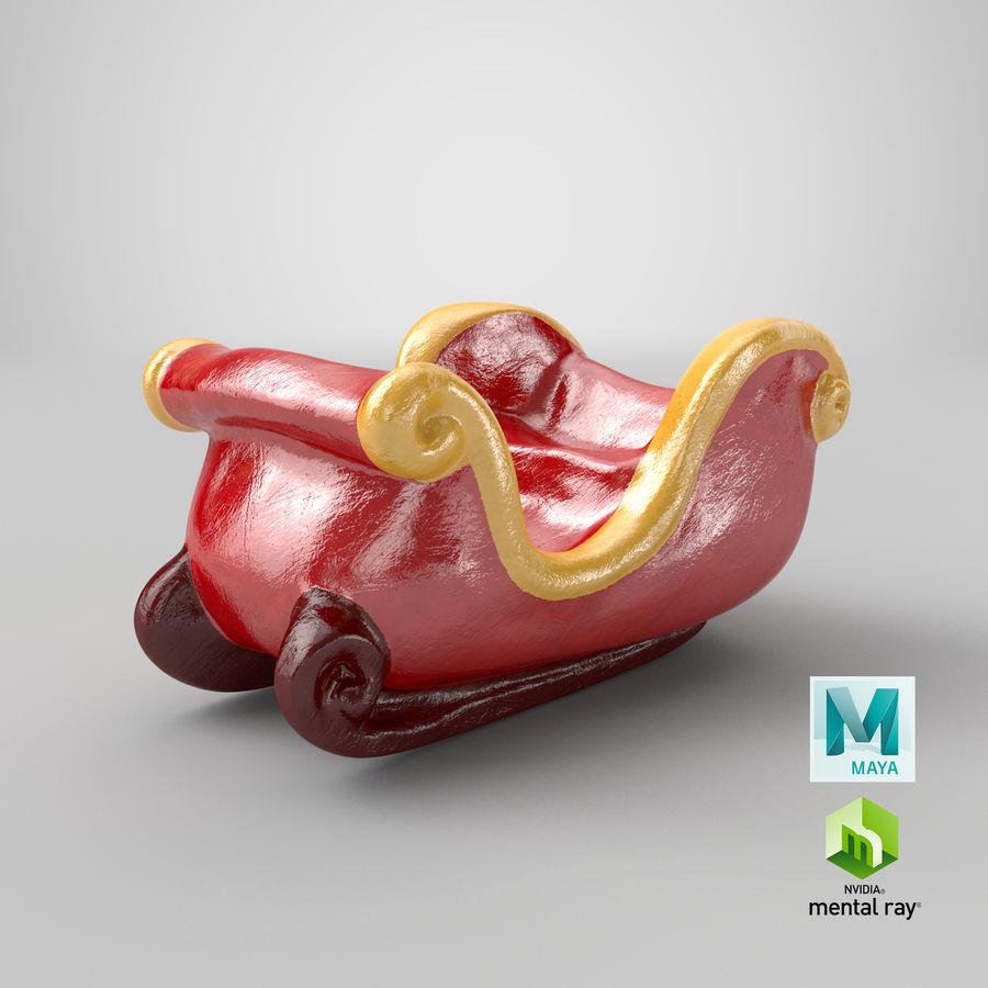 サンタクロースそり置物 royalty-free 3d model - Preview no. 43