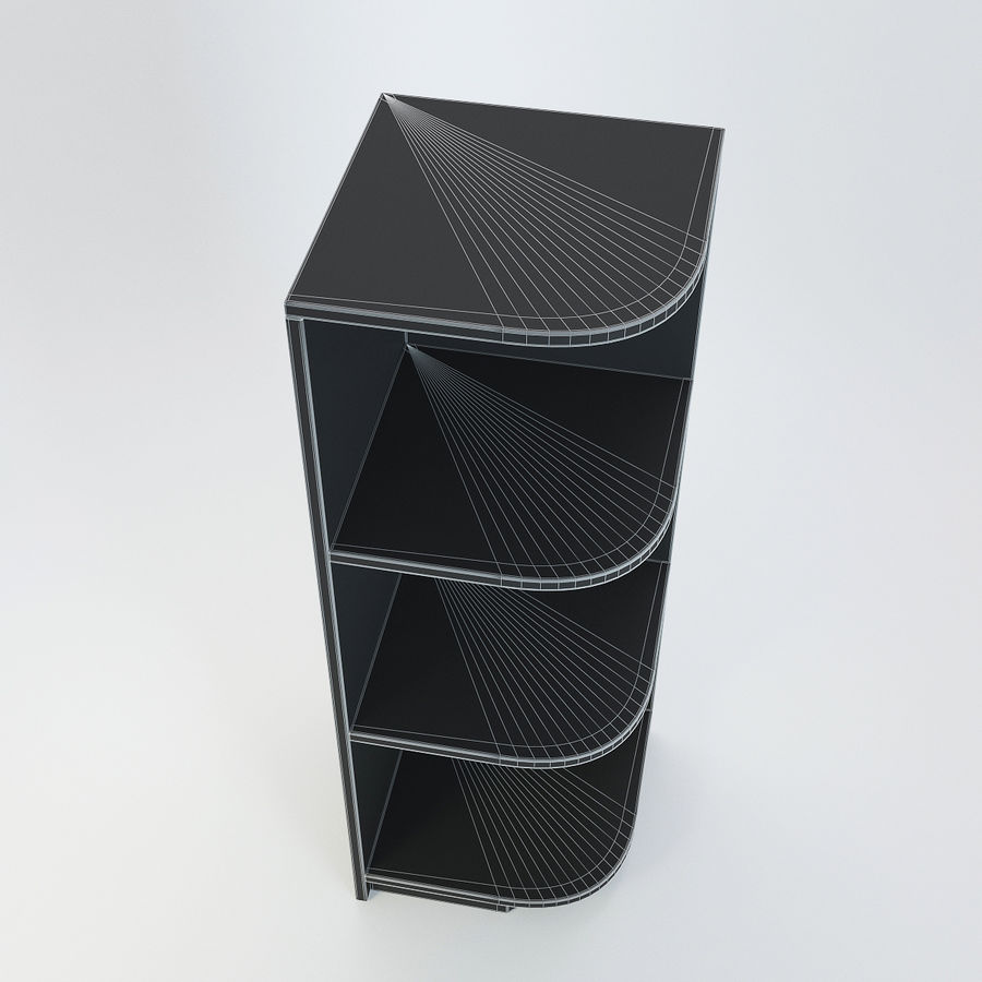 Houten kast 11 royalty-free 3d model - Preview no. 10