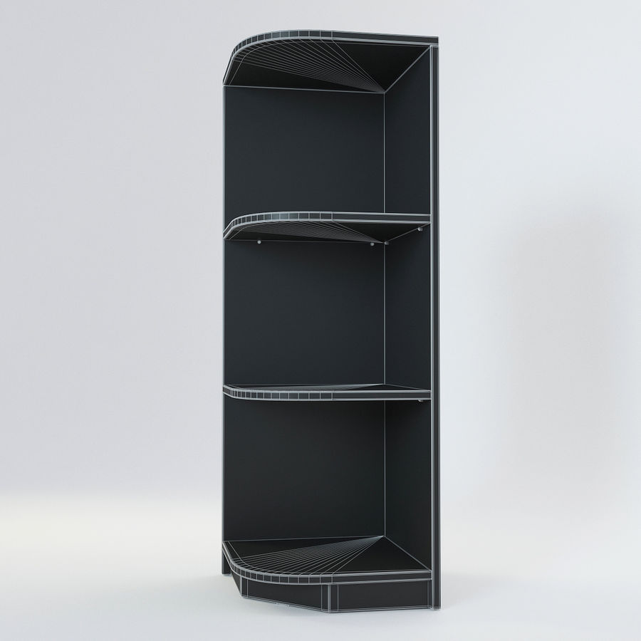 Houten kast 11 royalty-free 3d model - Preview no. 9
