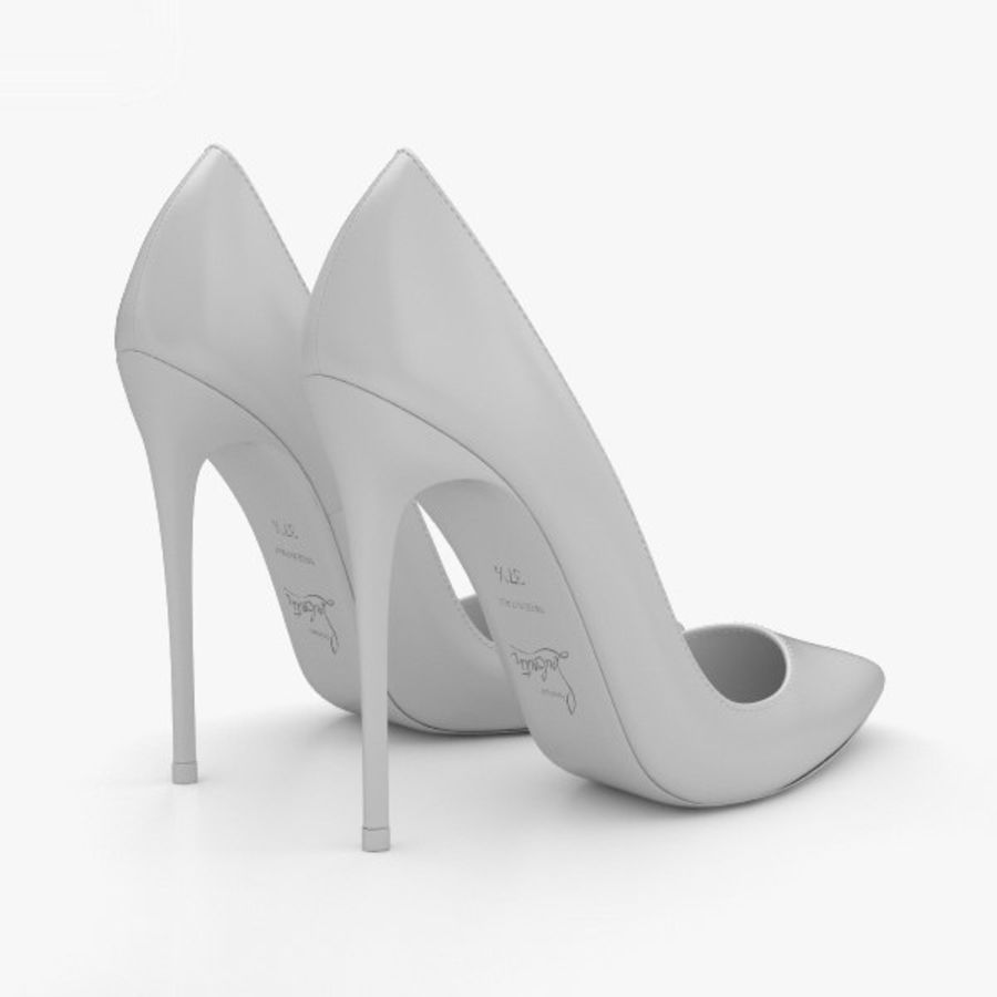 High Heels Shoes royalty-free 3d model - Preview no. 12