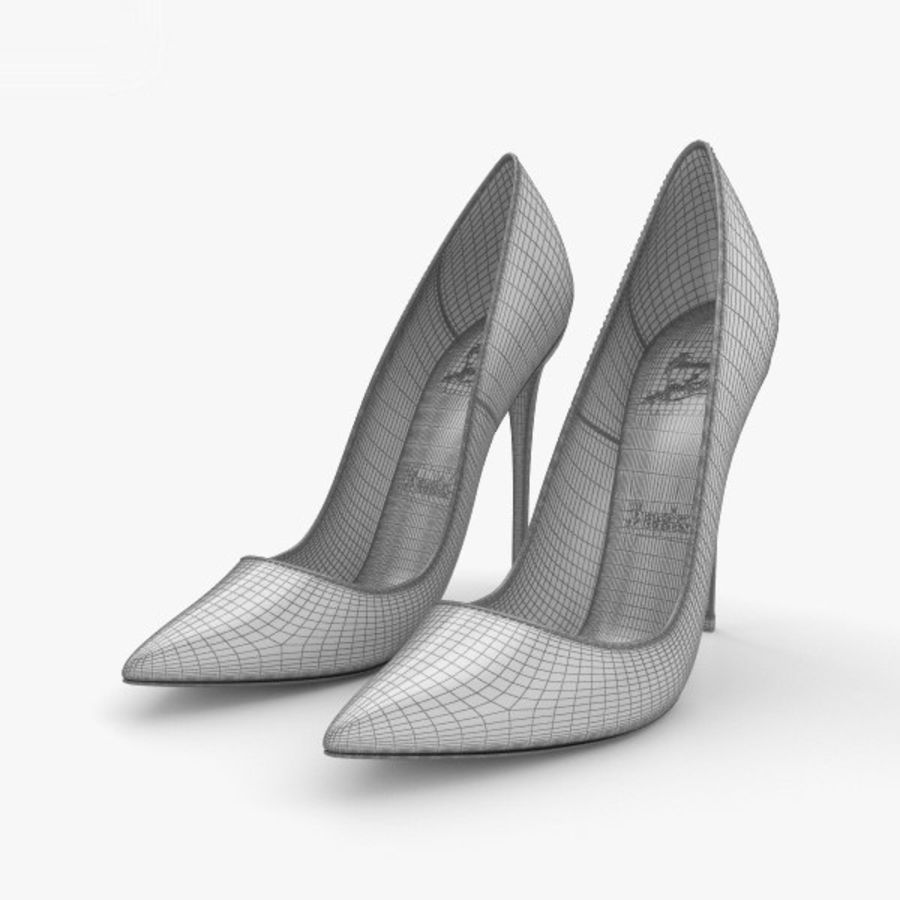 High Heels Shoes royalty-free 3d model - Preview no. 3