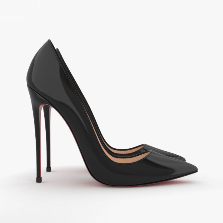 High Heels Shoes royalty-free 3d model - Preview no. 5