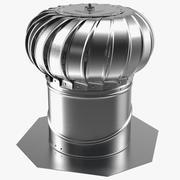 Турбина из оцинкованной стали с внутренним креплением 3d model