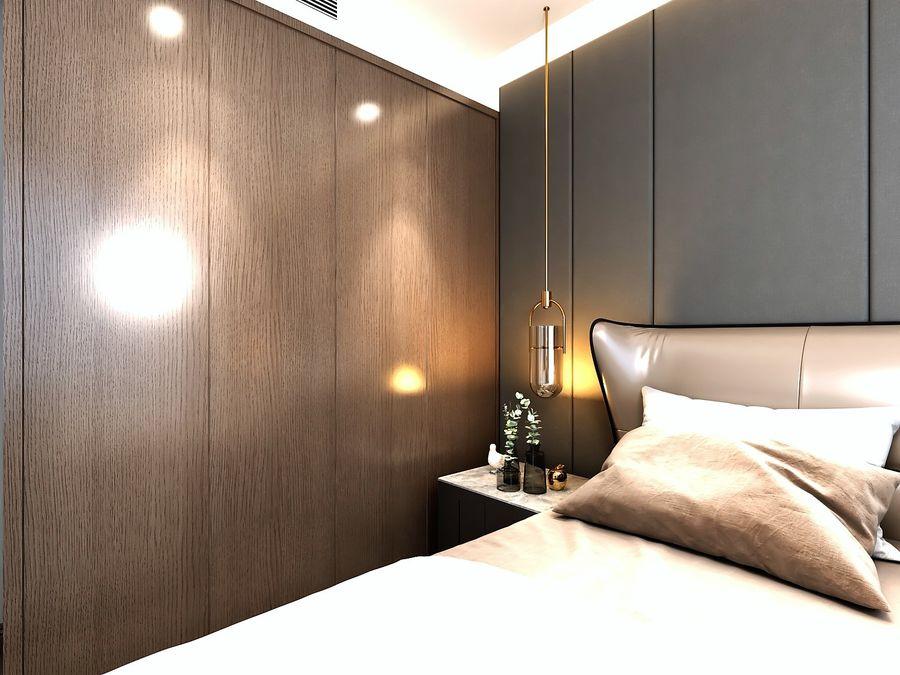 Yemek odası ve yatak odası ile oturma odası royalty-free 3d model - Preview no. 8