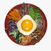 Pibimpab di zuppa di cibo coreana 3d model