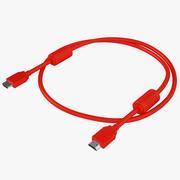 HDMI-kabel met hoge snelheid 01 3d model