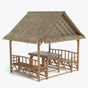 海滩小屋 3d model