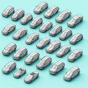 紙車 3d model