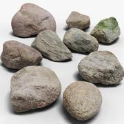Pack de pierres 3d model