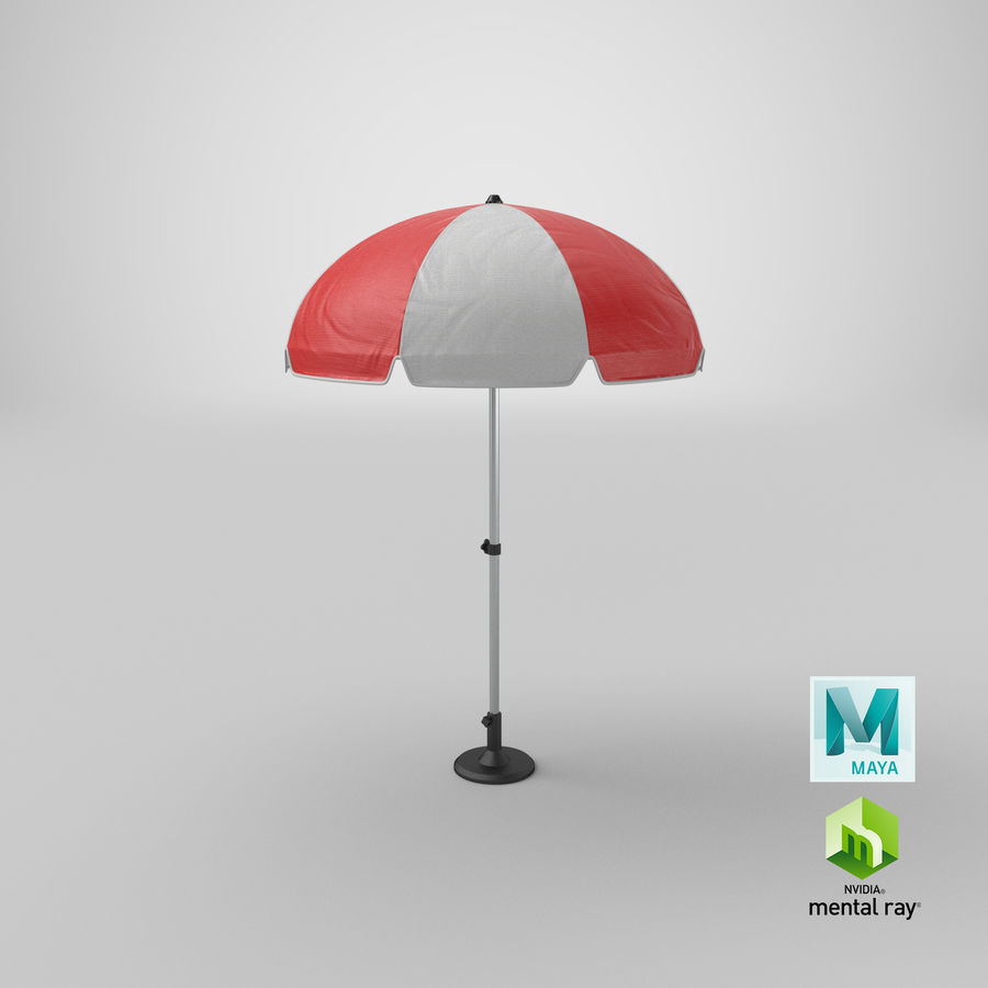Paraply royalty-free 3d model - Preview no. 19