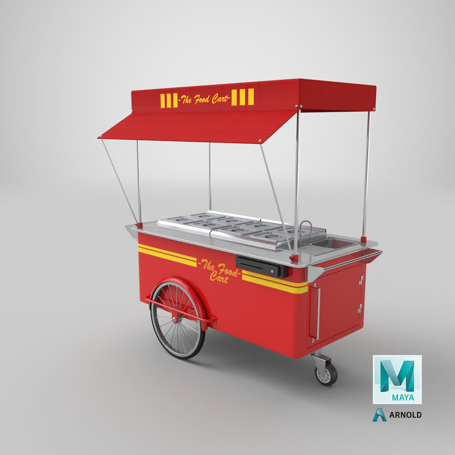 Food Cart royalty-free 3d model - Preview no. 17