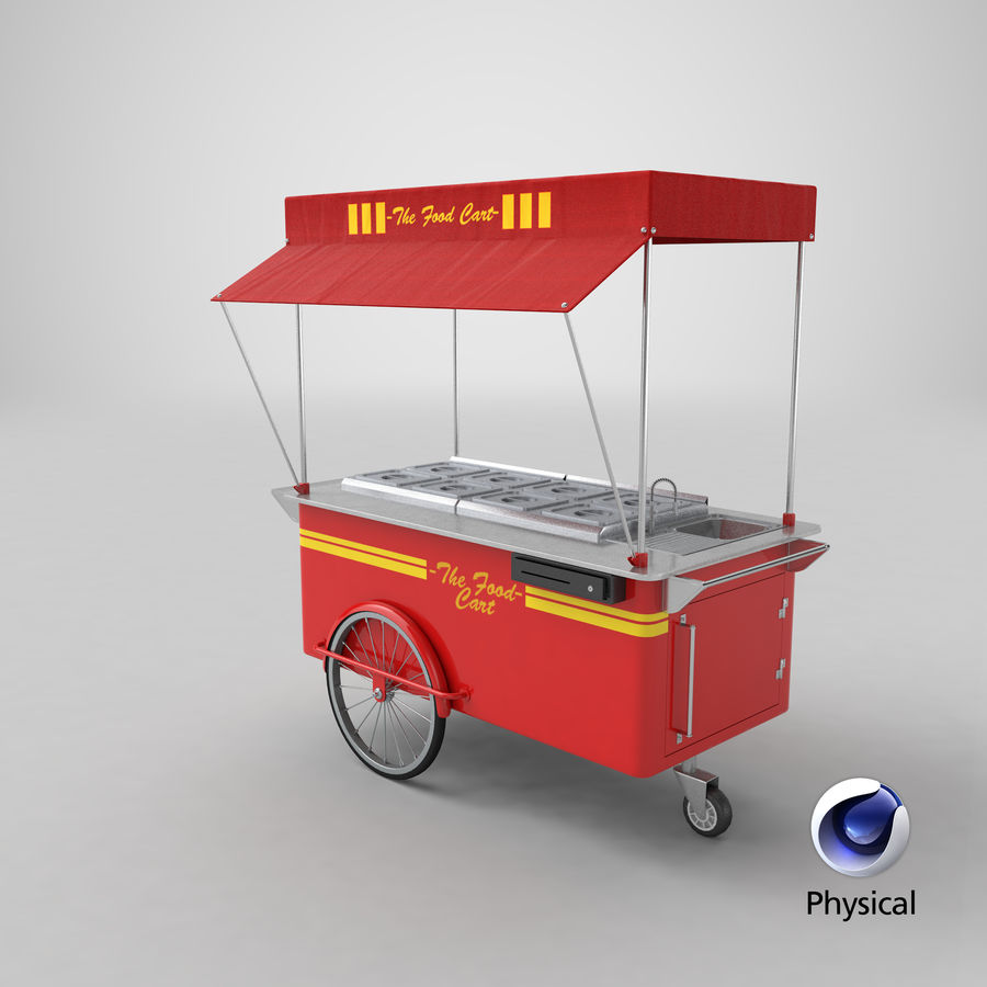 Food Cart royalty-free 3d model - Preview no. 12