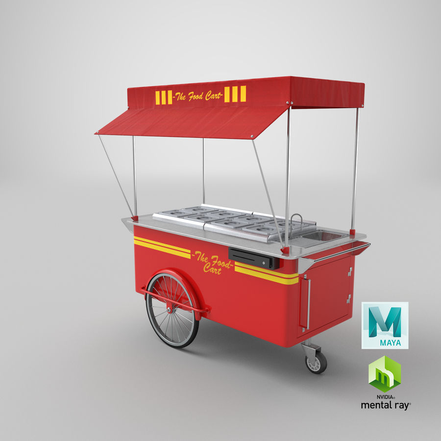 Food Cart royalty-free 3d model - Preview no. 18