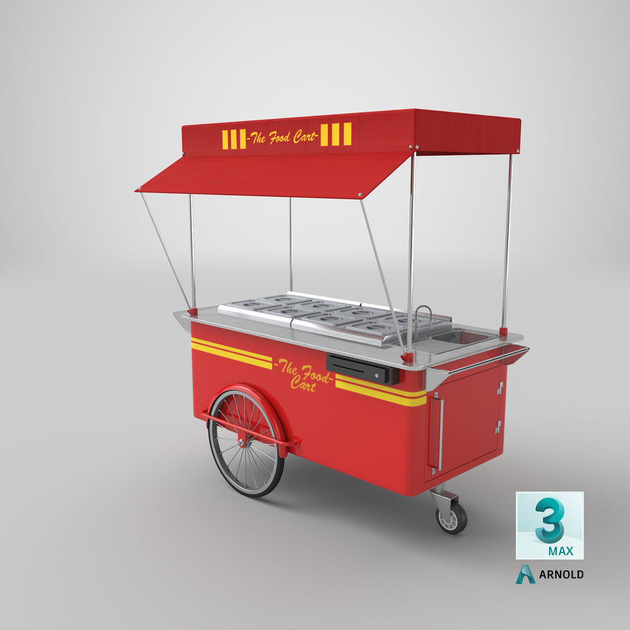 Food Cart royalty-free 3d model - Preview no. 14