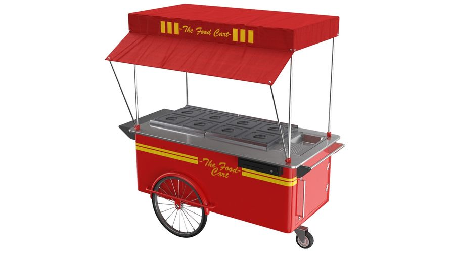 Food Cart royalty-free 3d model - Preview no. 2