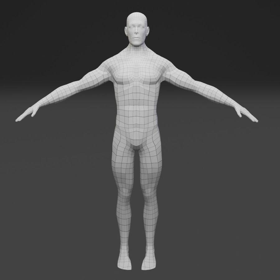 Male Base Body Mesh royalty-free 3d model - Preview no. 2