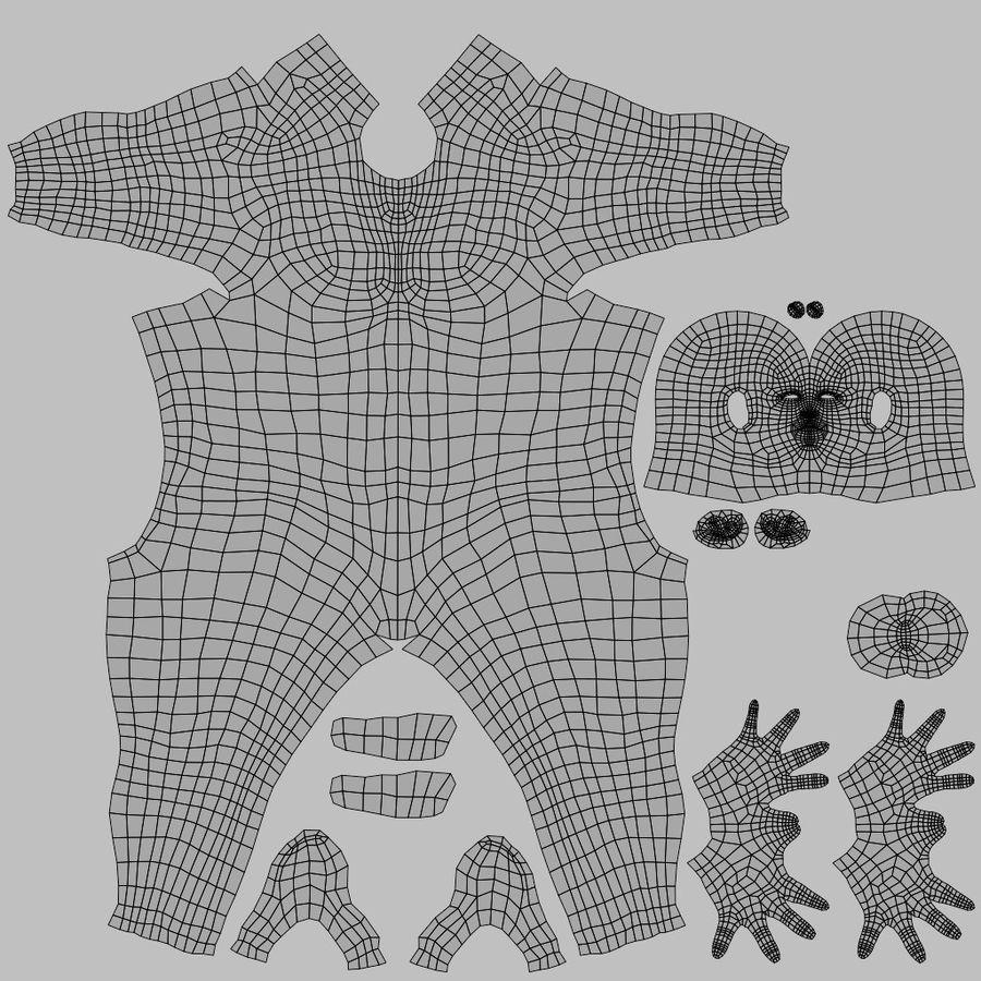 Male Base Body Mesh royalty-free 3d model - Preview no. 6
