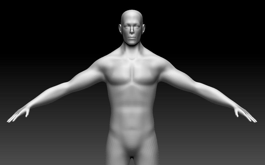 Male Base Body Mesh royalty-free 3d model - Preview no. 8