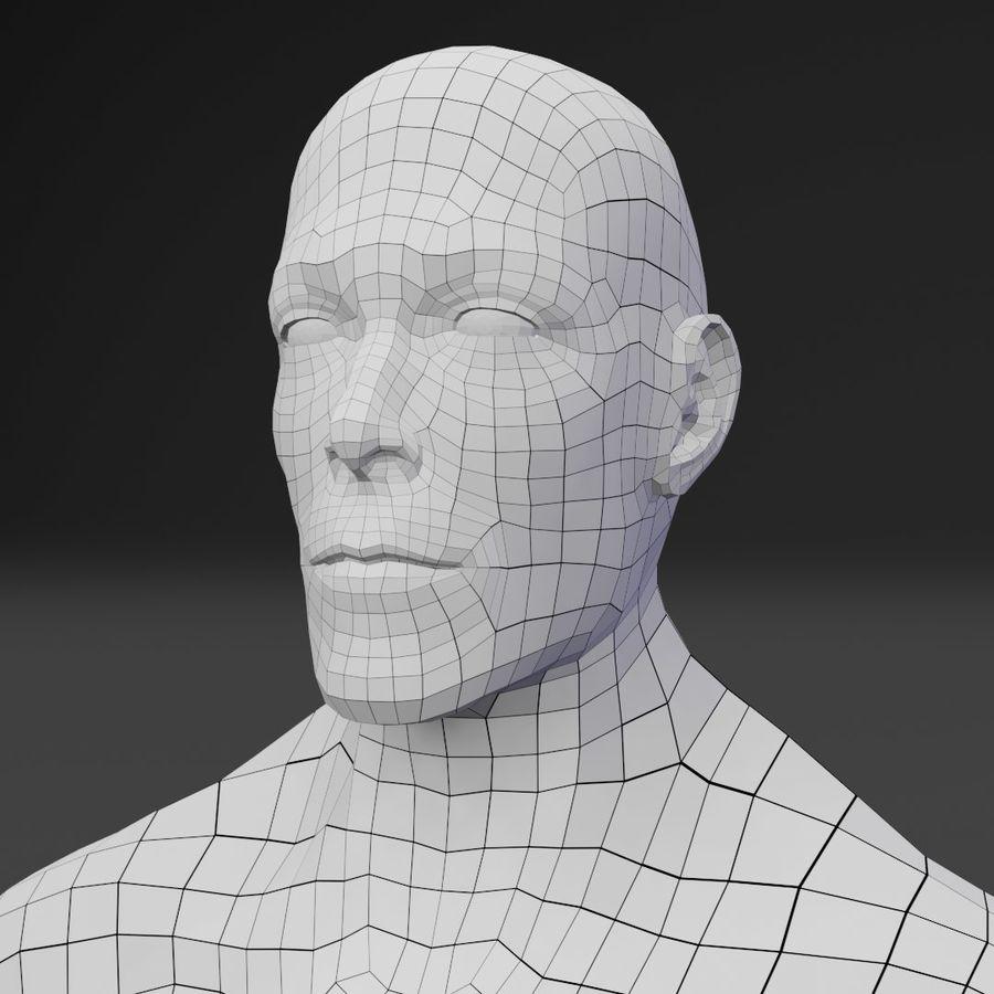 Male Base Body Mesh royalty-free 3d model - Preview no. 4