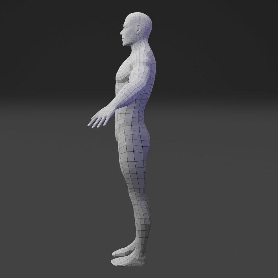 Male Base Body Mesh royalty-free 3d model - Preview no. 3