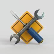 Pictogramme de réparations 3d model