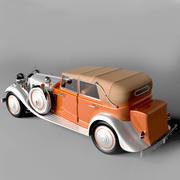 samochód retro 3d model