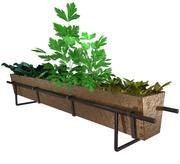 bronze herb planter 3d model
