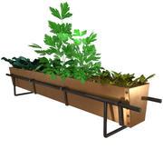 brass herb planter 3d model