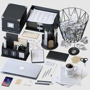 办公用品套装 3d model