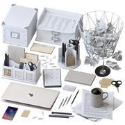 办公用品套装白色 3d model