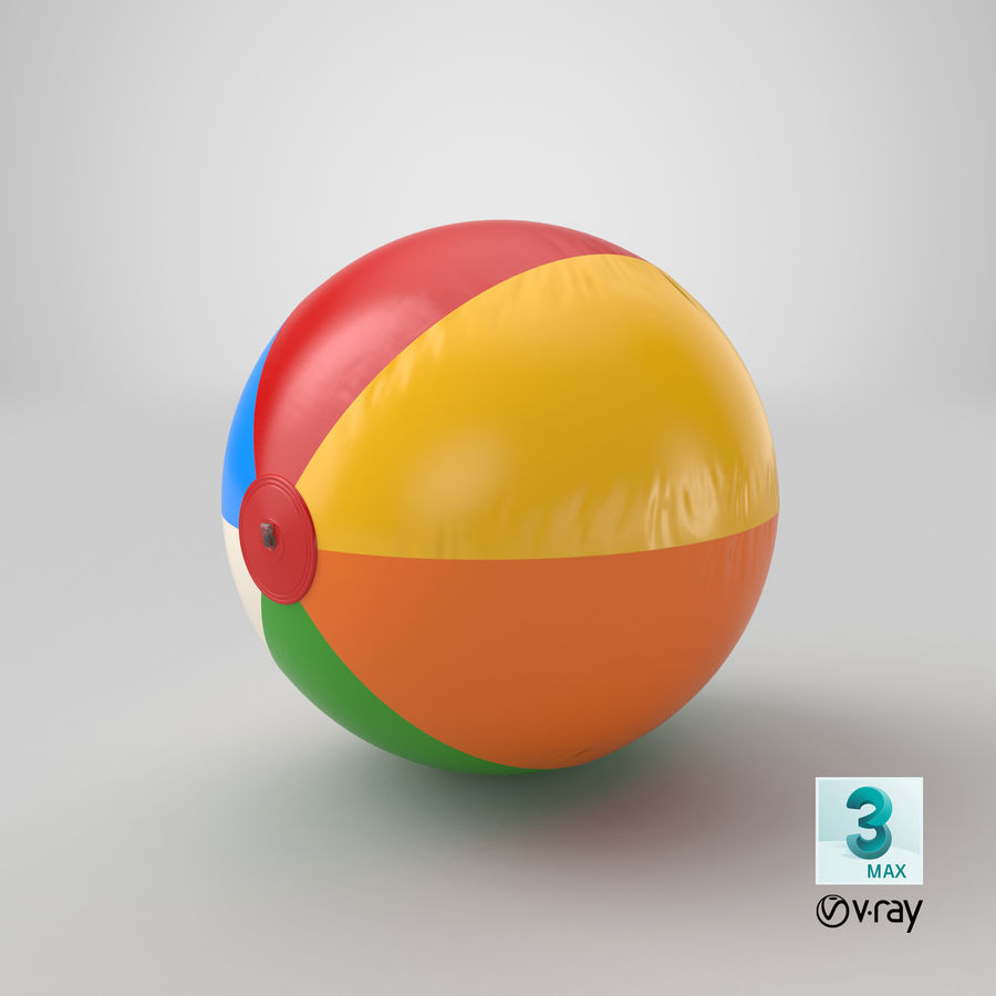 Beach Ball royalty-free 3d model - Preview no. 18