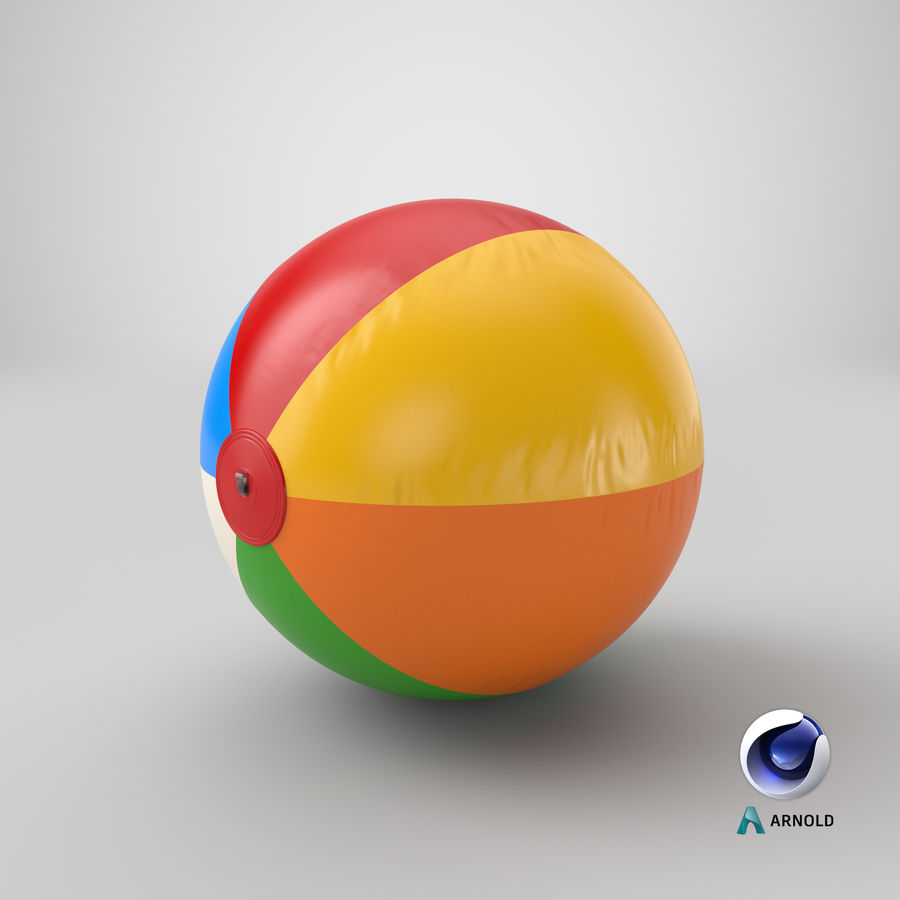 Beach Ball royalty-free 3d model - Preview no. 15