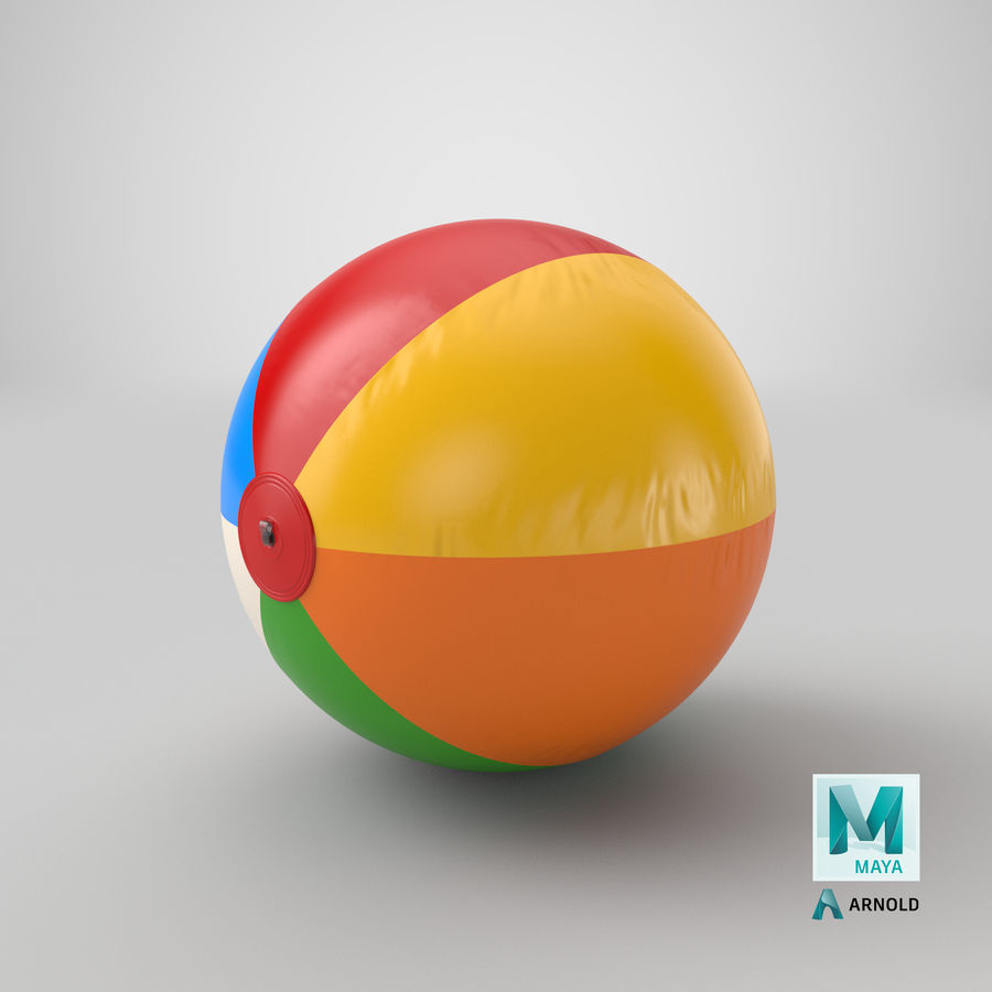 Beach Ball royalty-free 3d model - Preview no. 19