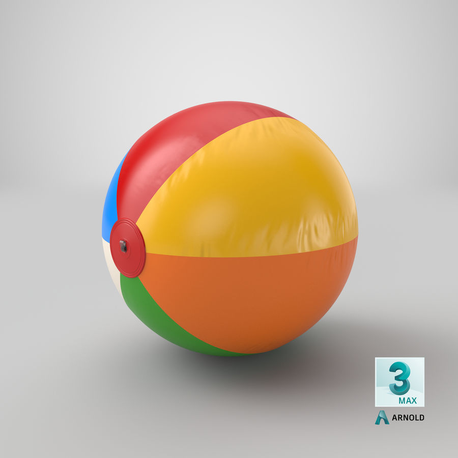 Beach Ball royalty-free 3d model - Preview no. 16