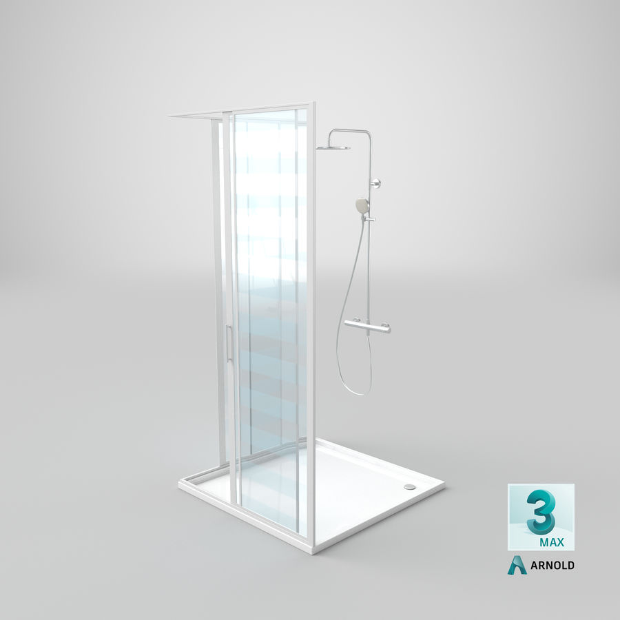 Duş Kabini 3D Model royalty-free 3d model - Preview no. 20
