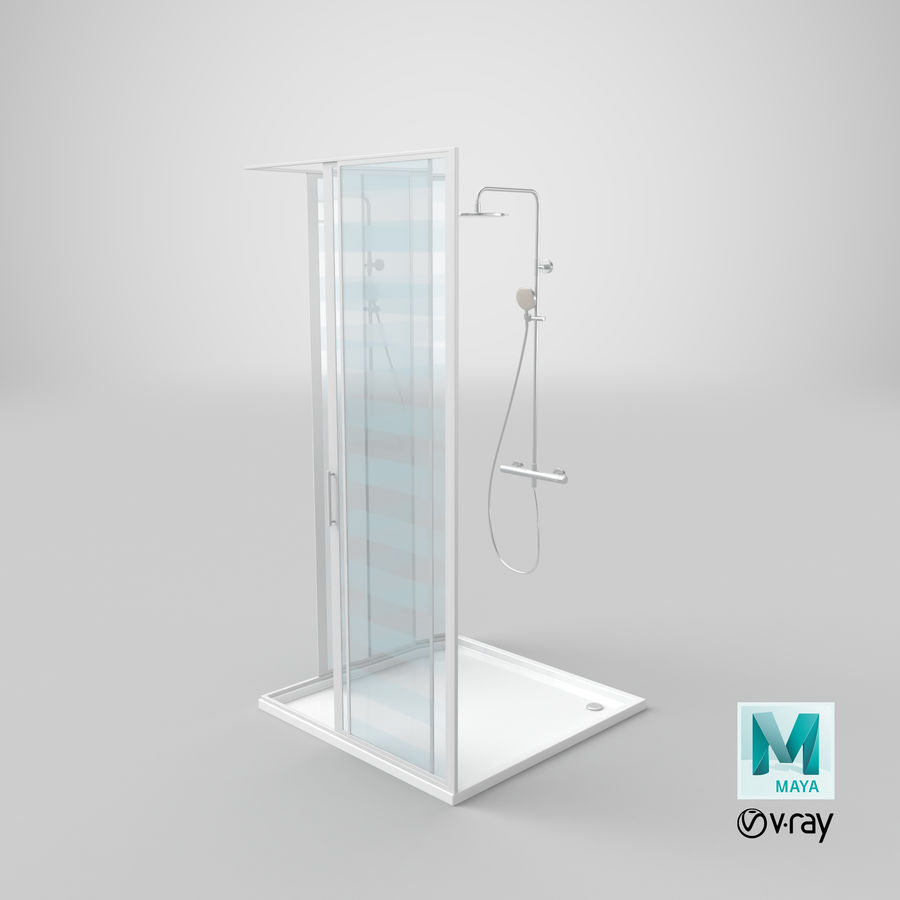 Duş Kabini 3D Model royalty-free 3d model - Preview no. 25