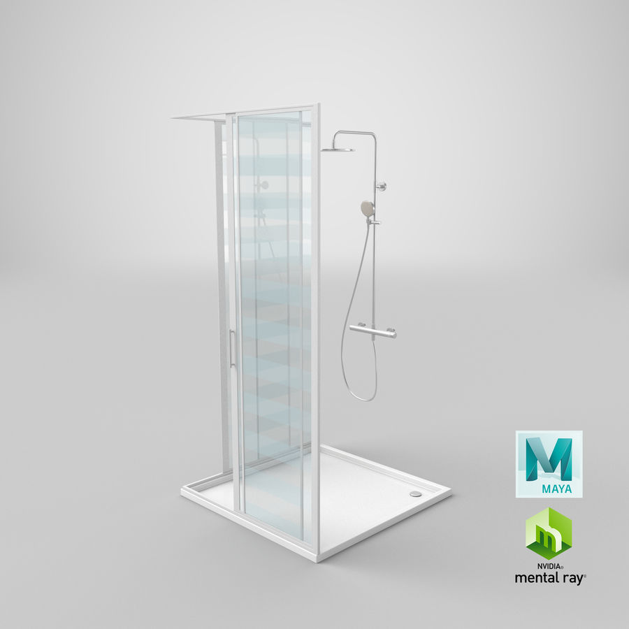 Duş Kabini 3D Model royalty-free 3d model - Preview no. 24
