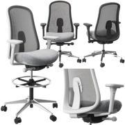 Krzesło i taboret Lino autorstwa Hermana Millera 3d model