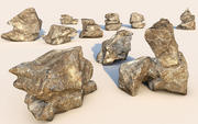 Realistic rock collection 3d model
